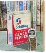 Black Pepper Wood Print