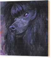 Black Poodle Wood Print