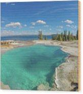 Black Pool, Yellowstone Wood Print