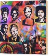 Black Revolution Wood Print by Tony B Conscious