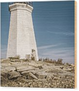 Black Rock Harbor Lighthouse II Wood Print