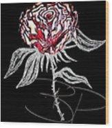Black Rose Wood Print