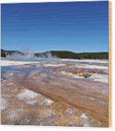 Black Sand Basin In Yellowstone National Park Wood Print