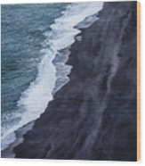 Black Sand Beach, Iceland Wood Print
