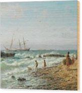 Black Sea Coast Wood Print