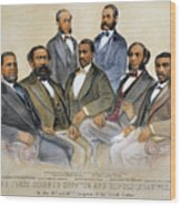 Black Senators, 1872 Wood Print