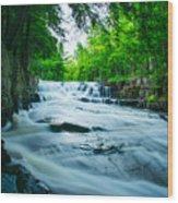 Black Slate Falls Wood Print