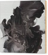 Black Smoke Wood Print