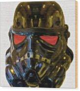 Black Stormtrooper - Pa Wood Print