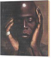 Black Thought Wood Print