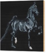 Black Tie Affair Featuring Saddlebred Champion Undulata's Made In Heaven Wood Print