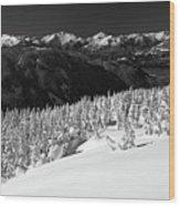 Black Tusk Mountain Scenery Wood Print