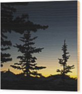 Black Tusk Sunset Wood Print