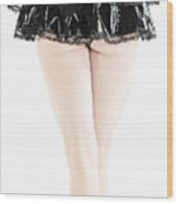 Black Tutu Wood Print