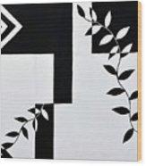 Black Vs White Again Wood Print
