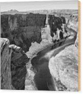 Black White Colorado River  Wood Print