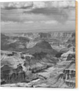 Black White Filter Grand Canyon  Wood Print