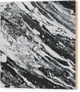 Black White Modern Art Wood Print