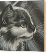 Black-white Wood Print