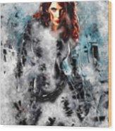 Black Widow Scarlett Johansson Wood Print