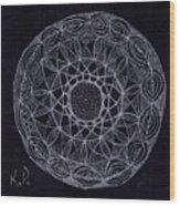 Black Zen 2 Wood Print