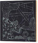 Black Zen 4 Wood Print