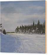 Blackbear Ski Trail Wood Print