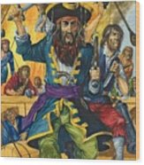 Blackbeard Wood Print