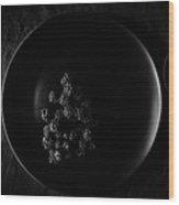 Blackberries On Black Plate  Wood Print