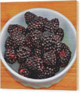 Blackberries 134 Wood Print