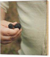 Blackberry Baby Wood Print