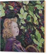 Blackberry Elf Wood Print