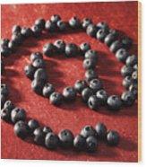 Blackberry Sign Wood Print