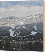Blackcomb Mountain Wood Print by Pierre Leclerc Photography