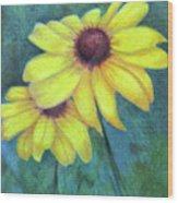Blackeyed Susan Wood Print