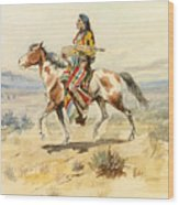 Blackfoot Indian. A Crow Scout Wood Print