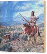 Blackfoot Warrior Wood Print