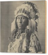 Blackheart Ogalalla Sioux Wood Print