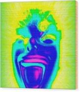 Blacklight Brooke Wood Print