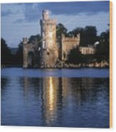 Blackrock Castle, River Lee, Near Cork Wood Print by The Irish Image Collection