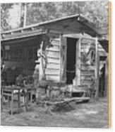 Blacksmith And Tool Shed Wood Print