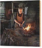 Blacksmith - Blacksmiths Like It Hot Wood Print by Mike Savad