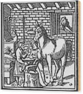 Blacksmith, C1250 Wood Print