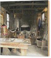 Blacksmith Wood Print by Kim Zwick