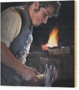 Blacksmith - Pioneer Village Wood Print