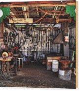 Blacksmith Shop By Kaye Menner Wood Print