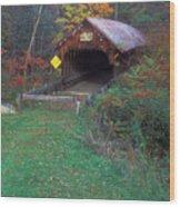 Blacksmith Shop Covered Bridge Wood Print
