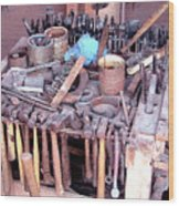 Blacksmith Tools Wood Print