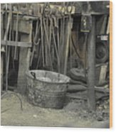Blacksmith's Bucket Wood Print