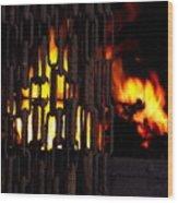 Blacksmiths Furnace Wood Print